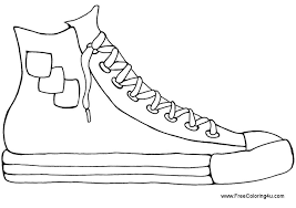 Free Printable Shoes Coloring Pages