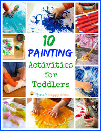 A Collection Of 10 Painting Activities For Toddlers That Include Fine Motor Work And Sensorial Play
