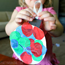 Paper Plate Tissue Ornament Craft For Kids