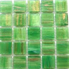 3 4 blue and green translucent marbled molded glass mosaic tiles