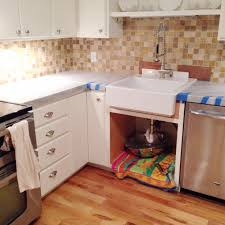 remodelaholic kitchen mini makeover with affordable tiled diy