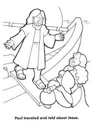 Acts Pauls Third Journey Paul Traveled Told Others About Jesus Coloring Page