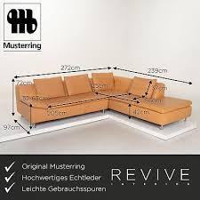 musterring leder ecksofa beige sofa funktion 13501