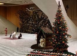 The Christmas Tree Is Seen As Pope Francis Leads His General Audience In Paul VI Hall At Vatican Dec 21 CNS Photo Haring