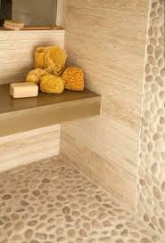 Tile Shop Morse Road by Vein Cut Travertine Tan Pebble Tile Rock Walls And Floor Honed