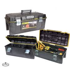 Portable Black Toolbox Stanley Mobile Plastic Tool Chest Storage ...