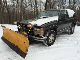 100 Truck With Snow Plow For Sale 1992 Chevy K1500 Blazer 4x4 Western RUNS GOOD V8