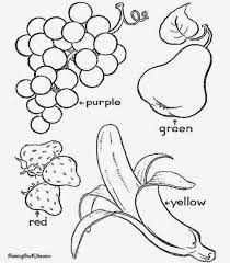 Ideas Of Free Coloring Pages Vegetables And Fruit With Additional