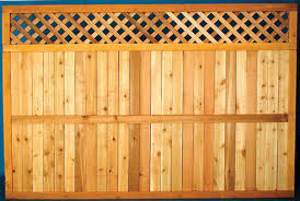 5 4 x 8 cedar diamond lattice top fence panel at menards