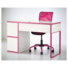 Ikea Computer Desk Workstation White Micke by Pink And White Desk Chair
