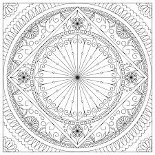 Coloriage De Mandala Facile 9666 Fleur Facile Simple Coloriage