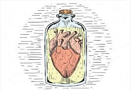 coeur de en pot coeur de vecteur dessiné à la libre dans un pot téléchargez