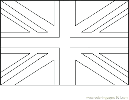 British Flag Printable Coloring Page Pages Free Uk Sheet Full Size