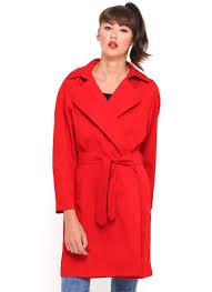 buy motel mac trench coat in red at motel rocks motel rocks