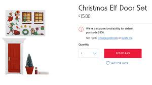 Christmas Trees Kmart Au by The Elf Door Set To Lift Your Game With This Christmas