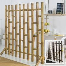 doppelseitiger bambus paravent bxh 120 180cm x 185cm