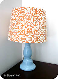DIY Fabric Lampshade Recover Tutorial
