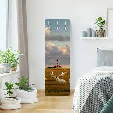 garderobe nordsee leuchtturm mit schafsherde