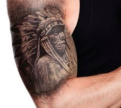Half Sleeve Grey Ink Tattoo For Men