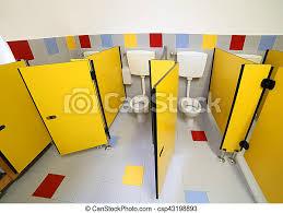 kleine toilette im badezimmer eines kindergartens kleine
