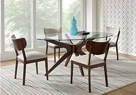 5 Piece Oval Dining Room Sets by Delmon Walnut Dark Brown 5 Pc Oval Dining Set Contemporary