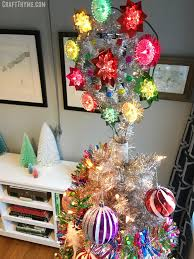 Retro Tinsel Tree Topper In Bright Candy Colors