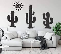 tjapalo a184 wandtattoo kaktus wandtattoo kakteen wandtattoo wohnzimmer modern wandtattoo pflanzen und gräser farbe schwarz größe b58xh25cm