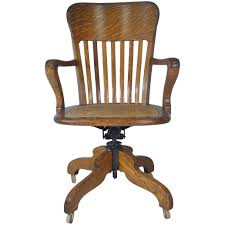 Victorian Oak Lawyers Office Swivel Chair