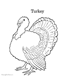 Turkey Thanksgiving Coloring Book Pages