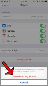 How to Delete an Outlook Email Account on an iPhone Solve Your Tech