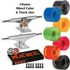 100 Skateboard Truck Sizes Independent S OJ Mini Juice 55mm SKATEBOARD Wheels KIT Bones
