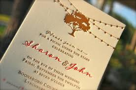 Letterpress Wedding Invitation Letterpressed Rehearsal Dinner Invitations Oak Tree And String Lights Rustic