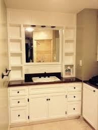 ana white build a vanity hutch with recessed lights free and