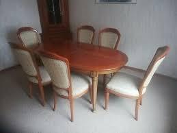esszimmer kirschbaum 1 tisch 6 stühle 1 eckschrank 1