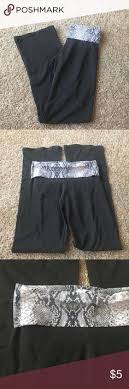 VS Flare Yoga Pants In Good Condition Snake Print Fold Over Victorias