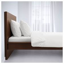 Malm Bed Assembly by Malm Bed Frame High Brown Stained Ash Veneer Luröy 180x200 Cm Ikea