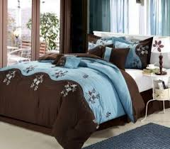 brown and blue bedding sets home comforters valverde pc king