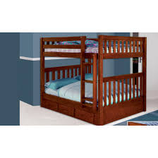 discovery world furniture merlot full over full mission bunk bed