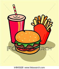 Stock Illustration Burger bo with fries and soda Fotosearch Search EPS Clip Art