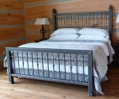Wrought Iron King Headboard And Footboard by King Metal Bed Frame Headboard Footboard Ideas Including Shady