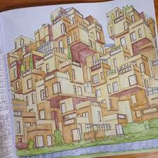 Colouring Adult Coloring Books Cities Sketch Painting Image