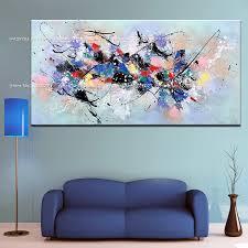 große größe bunte löwe tiere blaue abstrakte ölgemälde leinwand paintng handgemalte kunst moderne wandbilder für wohnzimmer