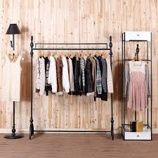 Incredible C Iron Clothing Rack Store Display Racks For Hanging Inside Ideas 12