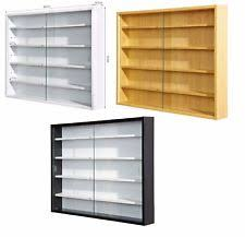 Glass Display Cabinet Models Storage Shelves Wall Mount Box Collectibles Vitrine