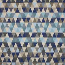 100 Cool Blue Design Triangles 49155 Sunbrella