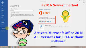Activate fice 2016 ALL versions for FREE without software
