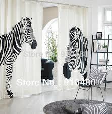 Zebra Curtain by Zebra Print Curtain Home Design