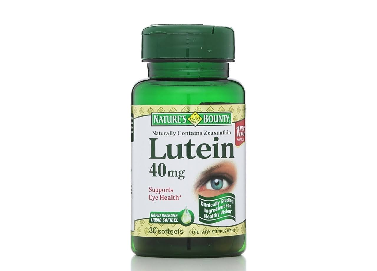 Nature's Bounty Lutein - 40g, 30 Rapid Release Softgels