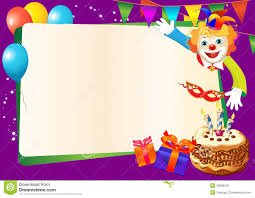 Birthday Decorative Border With Cake