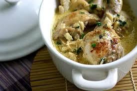 cuisine recette poulet poulet à la crème cuisine 228
